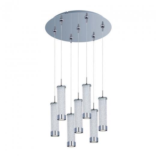 Chroma 7-Light LED RapidJack Pendant and Canopy-E93750-130PC