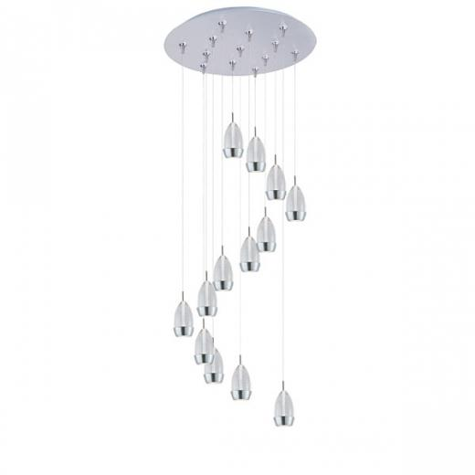 Luxe 13-Light LED RapidJack Pendant and Canopy-E93852-91SN