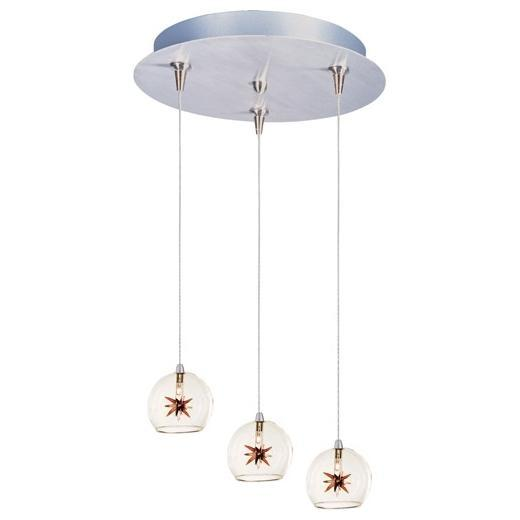 Starburst 3-Light RapidJack Pendant and Canopy-E94672-25
