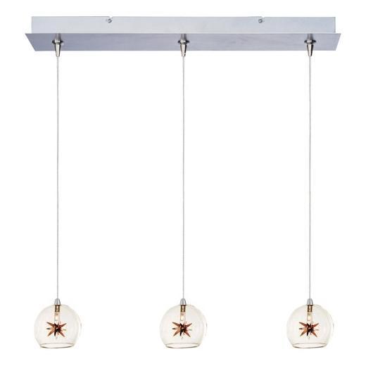 Starburst 3-Light RapidJack Pendant and Canopy-E94872-25