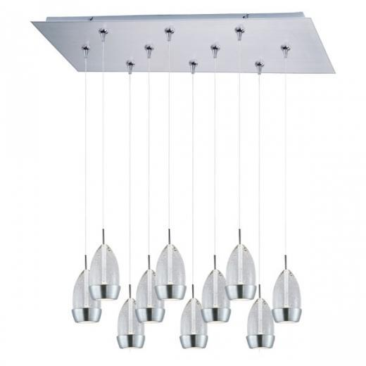 Luxe 10-Light LED RapidJack Pendant and Canopy-E93952-91SN
