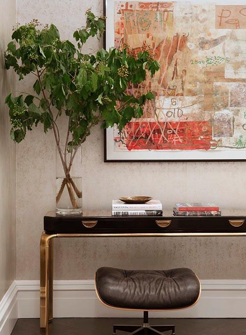 Home Decor Art Deco Gold Black Furnishing Painting
