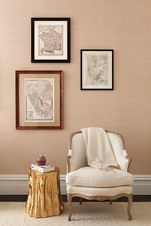 home-decor-gold-white-cream-armchair-statement-table-frames-wall-gallery