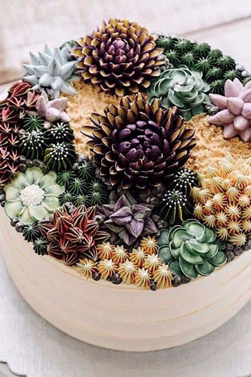 wedding-cake-unique-succulent-flowers-desert