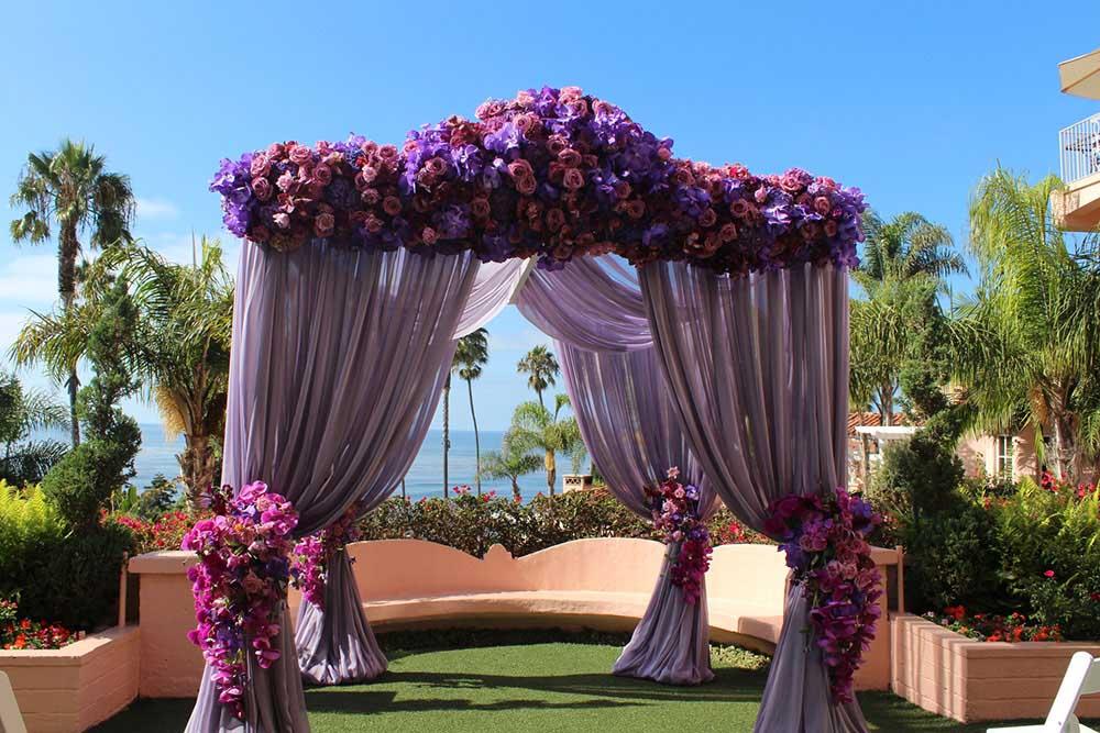 ultraviolet-wedding-Lavender-Ceremony-Canopy