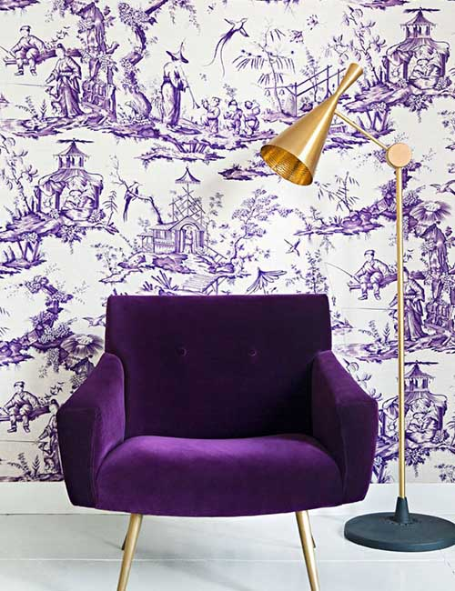 ultra-violet-wall-paper-and-velvet-furniture