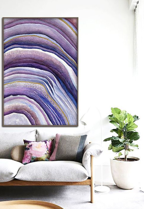 violet-wall-art-modern-living-room