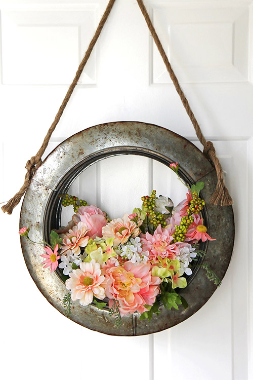 spring wreath diy from hobby lobby