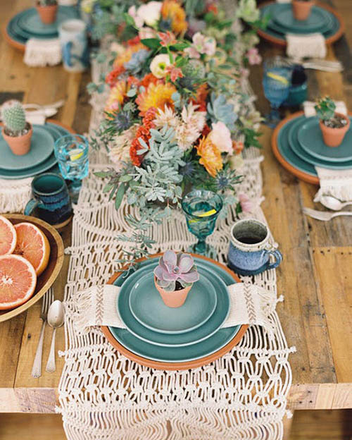 bold-colorful-playful-boho-centerpiece-succulent