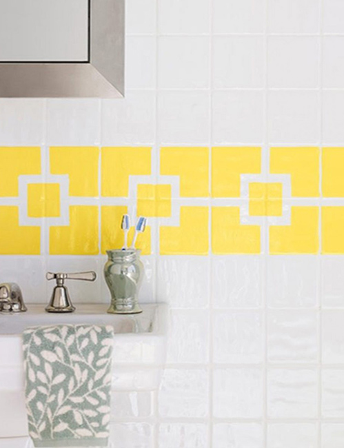 painting-tiles-mosaic-shower-geometric-backsplash
