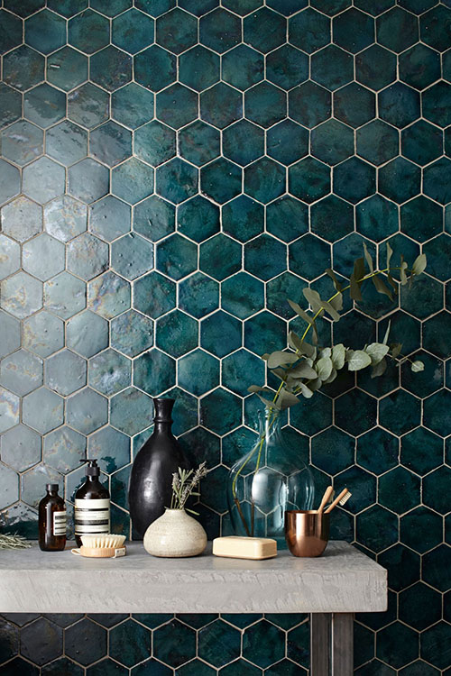 deep-green-hexagon-wall-tile
