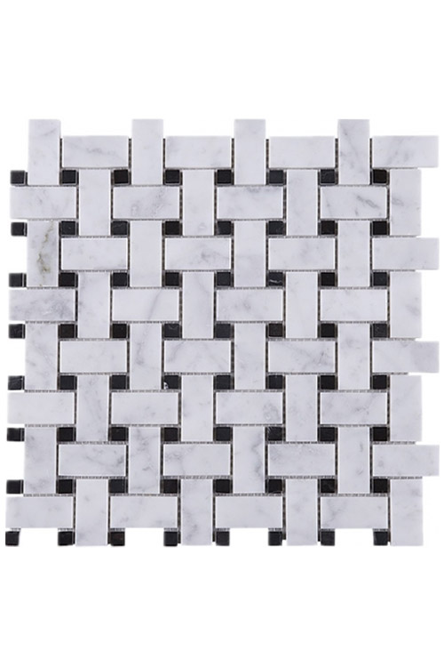 white-carrara-basketweave-stone-mosaic-tile