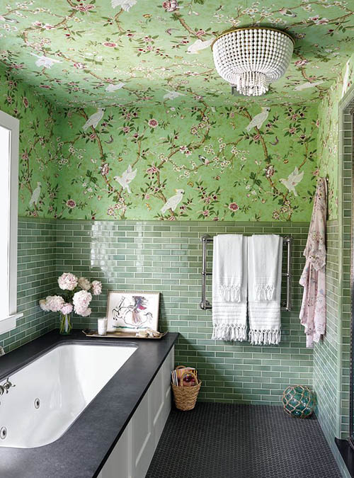 green-wall-tile-white-grout-bathroom