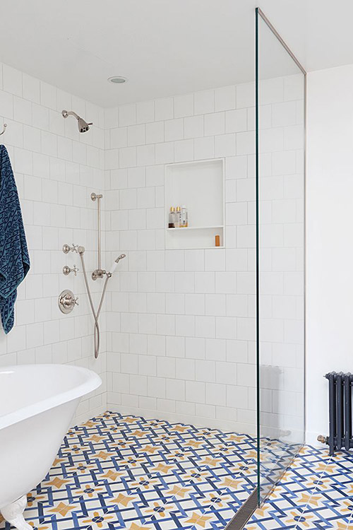 moroccan-floor-tile-white-grout-bathroom
