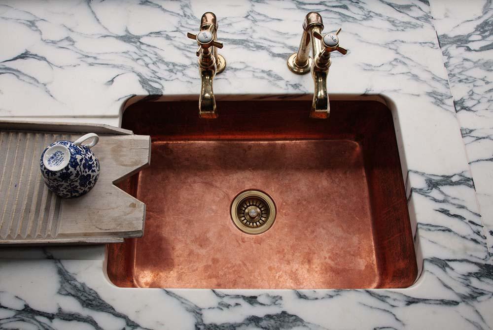 warm-copper-kitchen-faucet