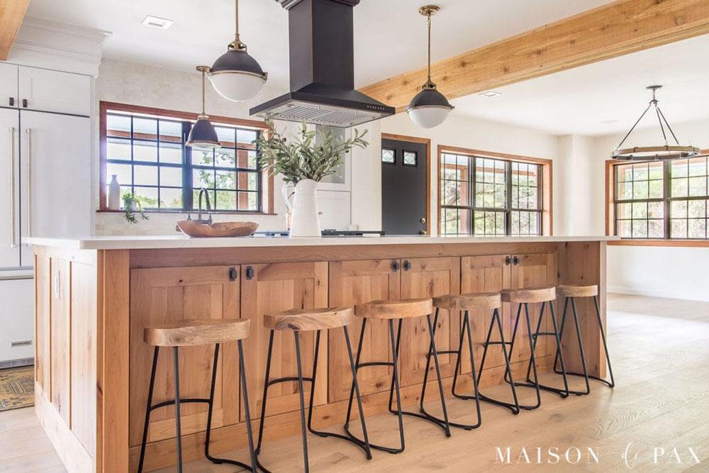 farmhouse-rustic-modern-wood-kitchen-island
