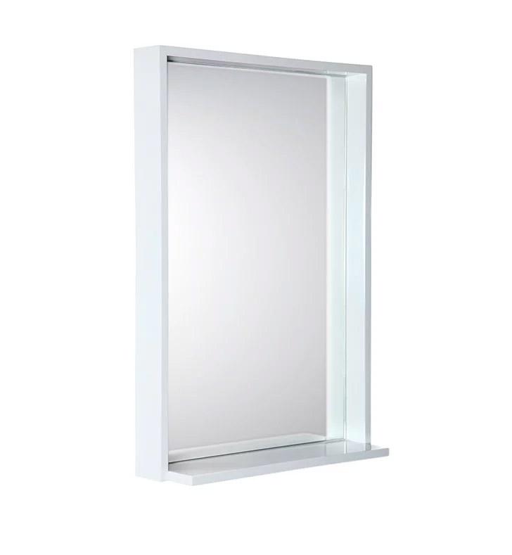 """Fresca FMR8125WH Allier 22"""" White Mirror with Shelf"""