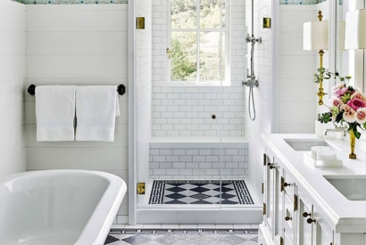 These Tiles are Great for Small Bathrooms!